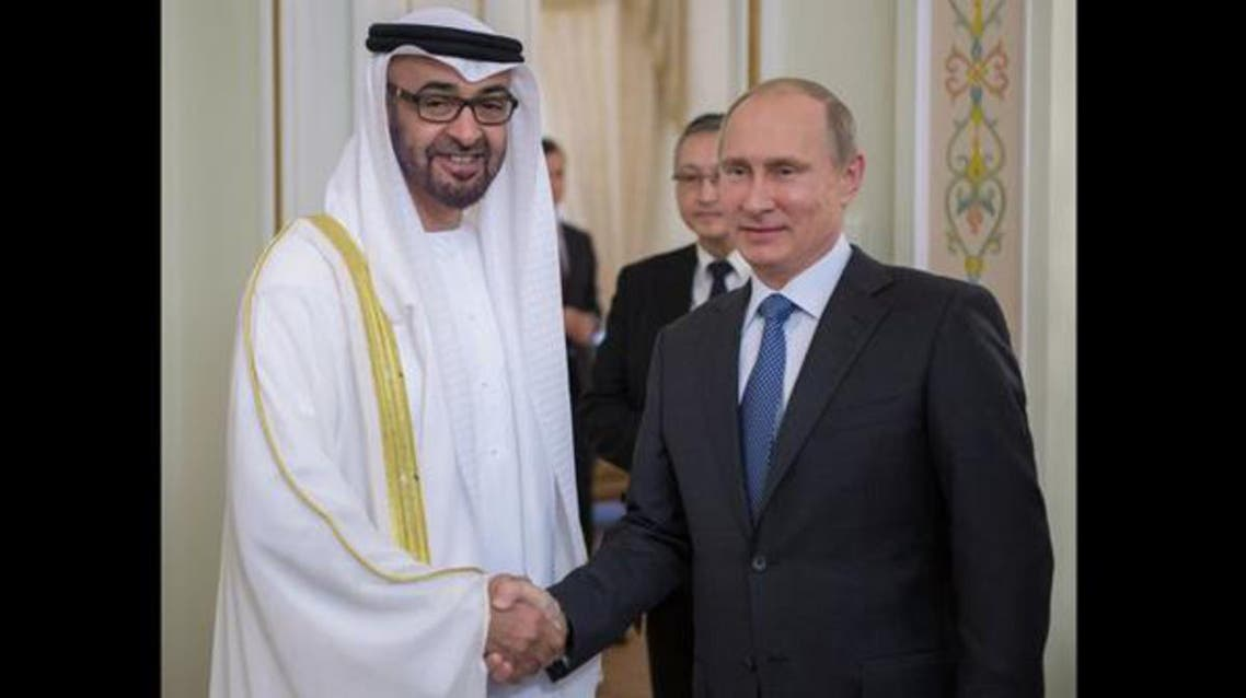 بوتين والشيخ محمد بن زايد