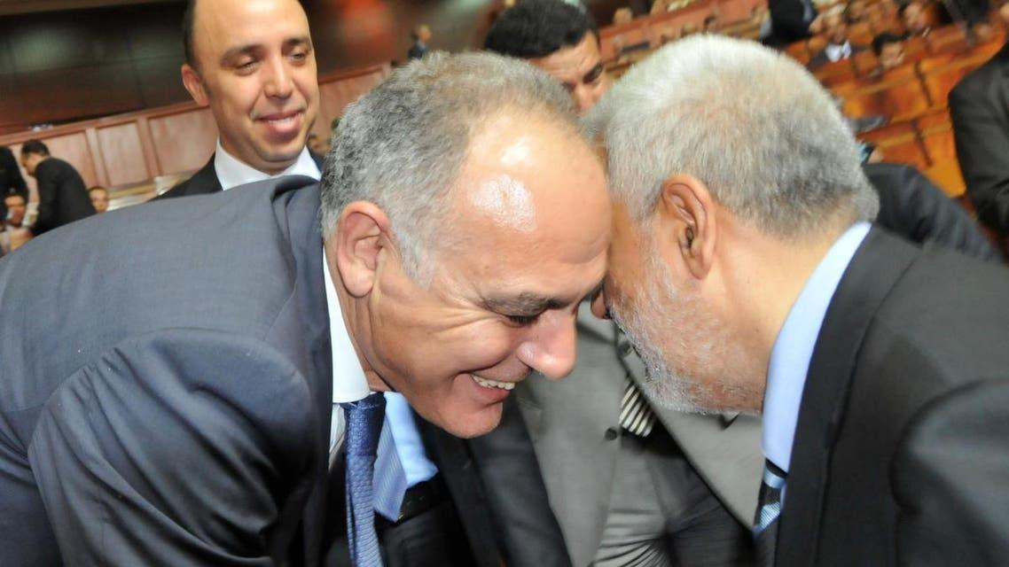 بن كيران رئيس الحكومة المغربية وصلاح الدين مزاور زعيم التجمع المعارض