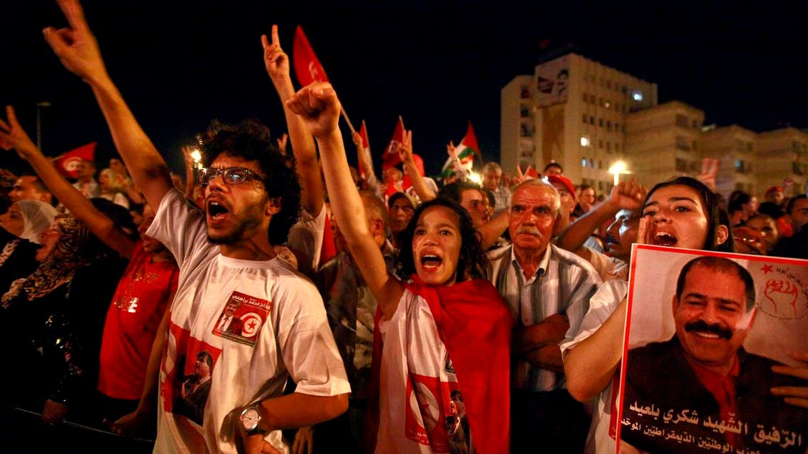 Tunisians protestsreuters