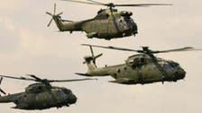 مروحيات الجيش المصري تقصف مواقع مسلحين في شمال سيناء