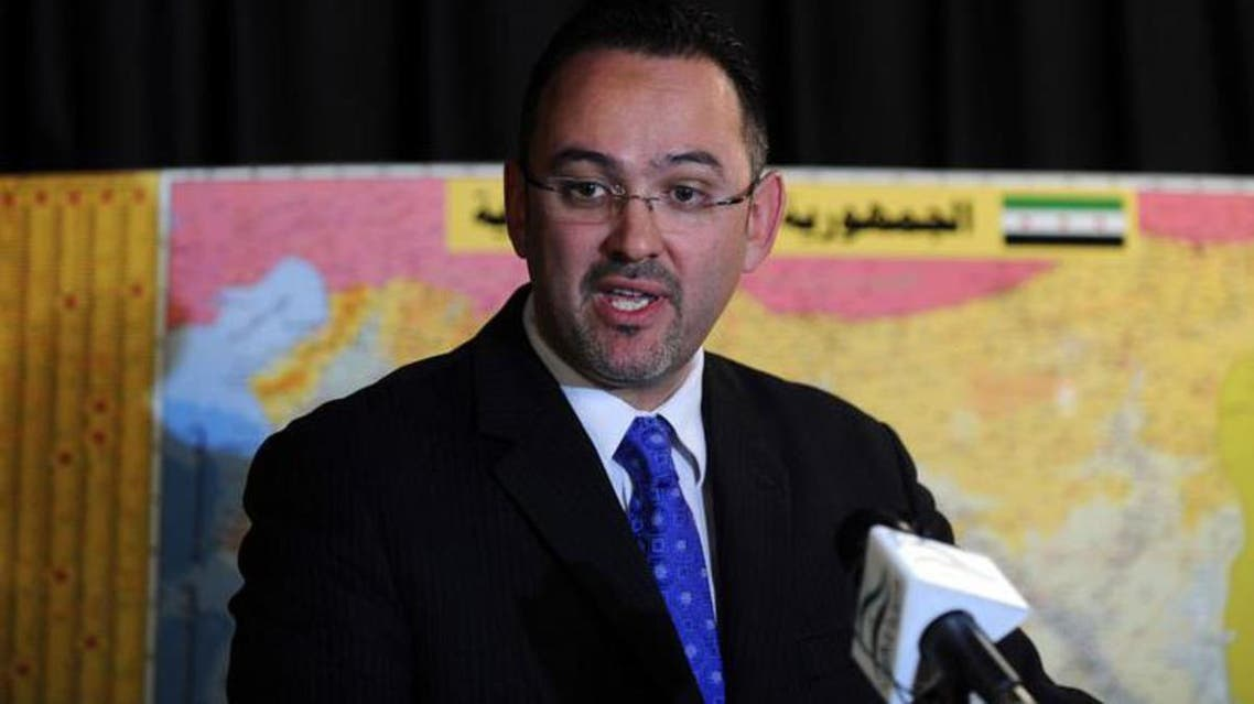 Syrian National Coalition spokesman Khaled Saleh speaks during a news conference in Istanbul September 3, 2013. reu