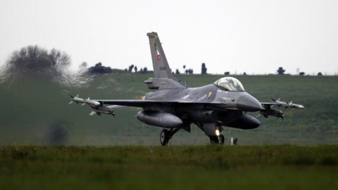 A file photo shows a Turkish Air Force F16 jet fighter preparing to take off from an air base in Bandirma, Balikesir province. (Reuters)