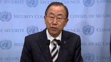 """بان كي مون: الهجوم الكيمياوي في سوريا """"جريمة حرب"""""""