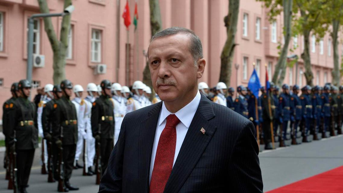 Turkey's Prime Minister Tayyip Erdogan is seen during a welcoming ceremony for his Pakistani counterpart Nawaz Sharif in Ankara Sept. 17, 2013. (Reuters)