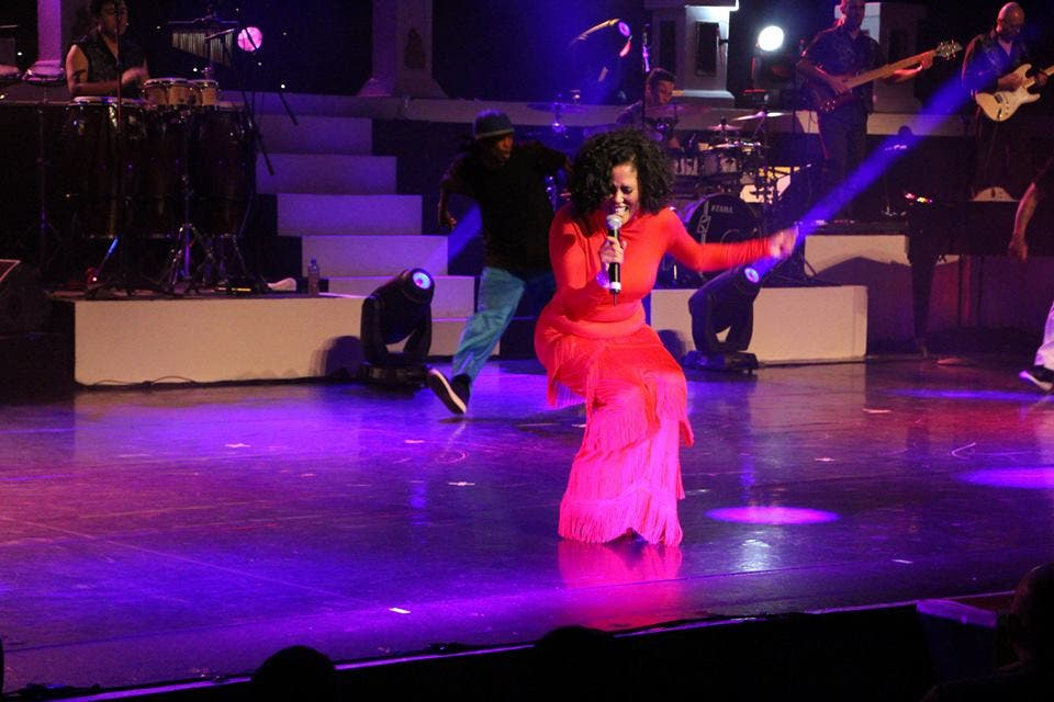 Belinda Davids performs in The Greatest Love of All - The Whitney Houston show (Photo courtesty: The Whitney Houston show Facebook page)