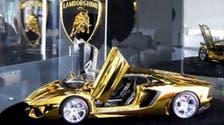 Mini-golden Lamborghini goes on display in Dubai