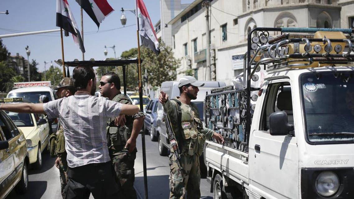 حاجز تفتيش تابع لقوات جيش النظام السوري
