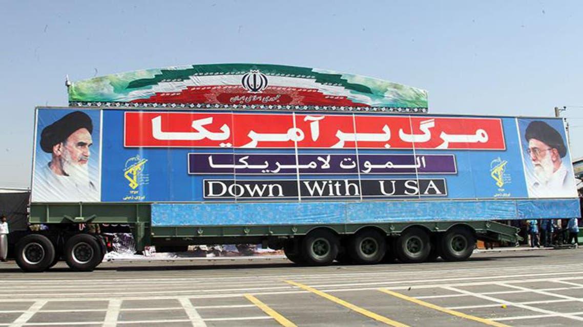 صواريخ في استعراض عسكري في ايران