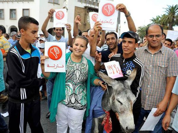الحمير.. وسيلة احتجاج لدى أكبر حزب معارض بالمغرب