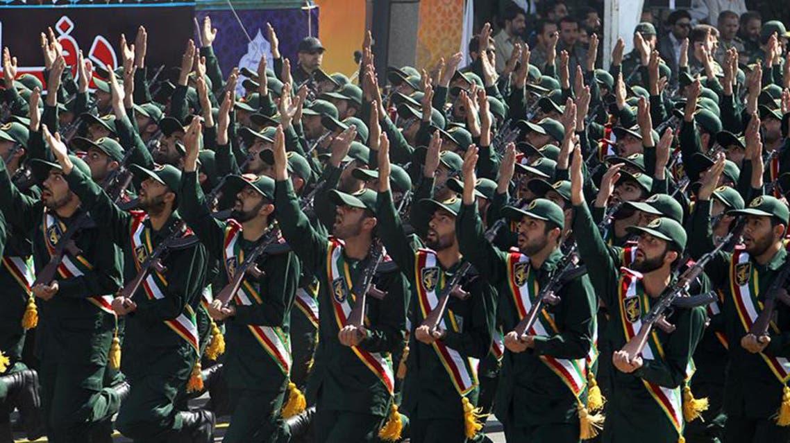 قوات من الحرس الثوري في استعراض عسكري في ايران
