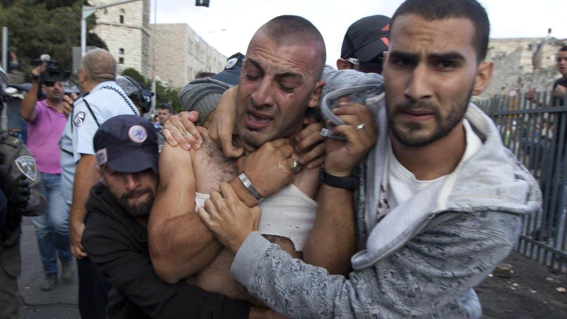 اشتباكات بين فلسطينيين وإسرائيليين