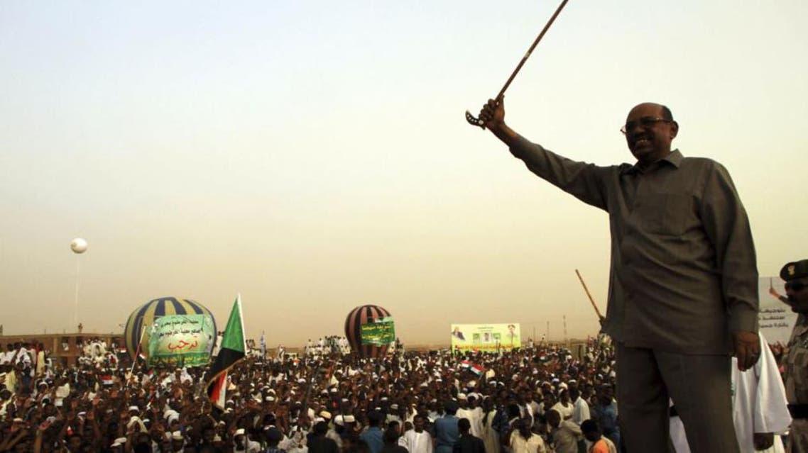 President Omar Hassan al-Bashir addresses a crowd in North Khartoum, June 8, 2013. reu