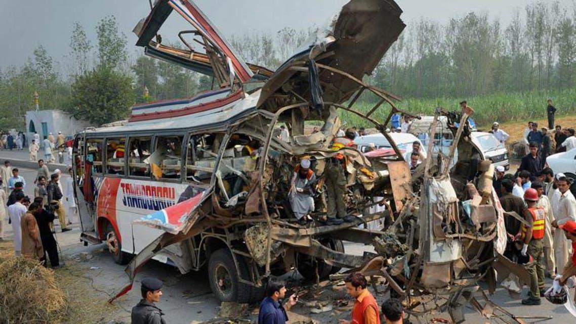 Peshawer bus blast