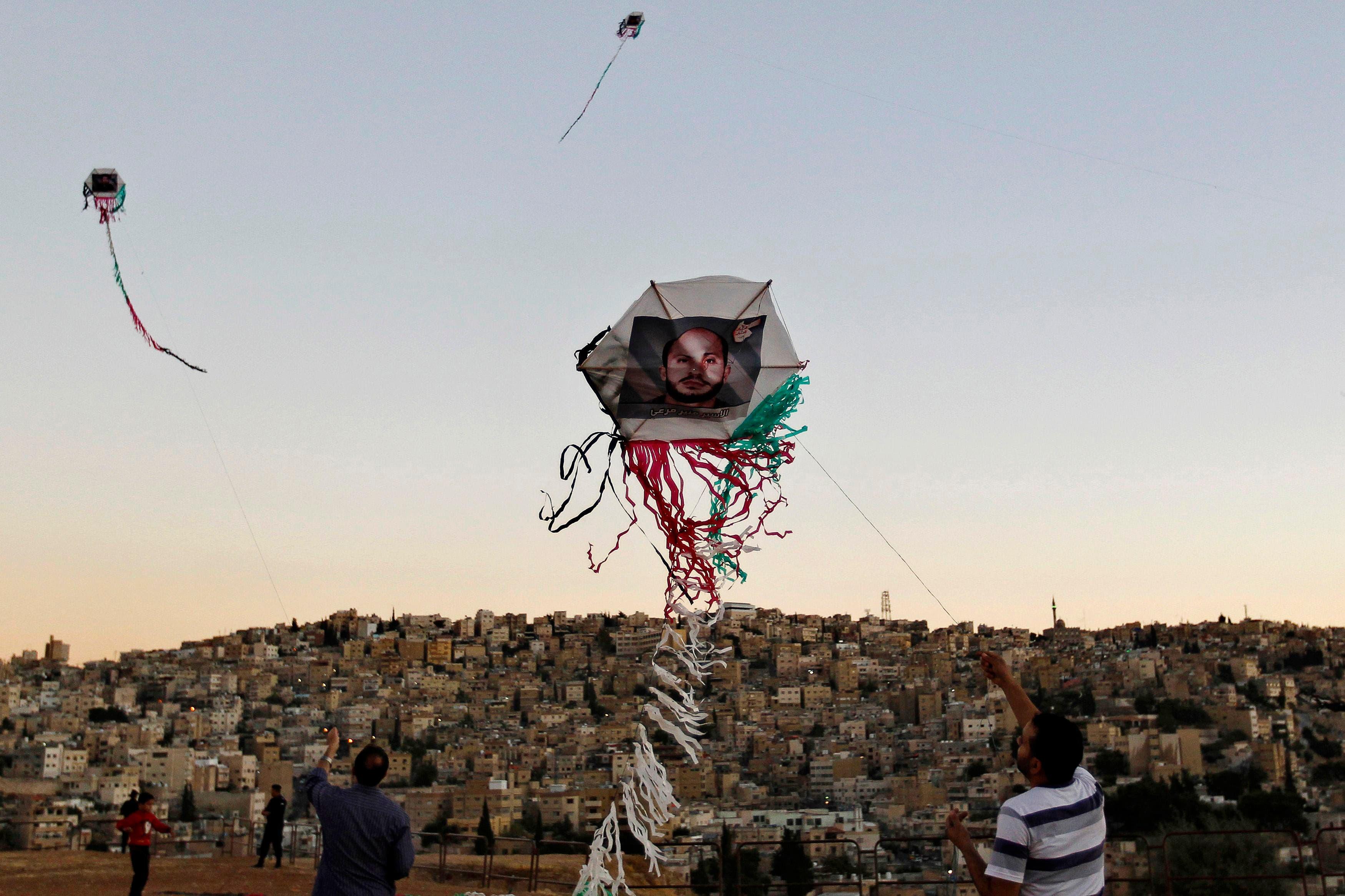 Jordanian 'kite' protest