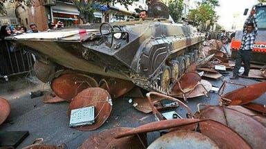 دبابات في جنوب إيران لتدمير أطباق الفضائيات
