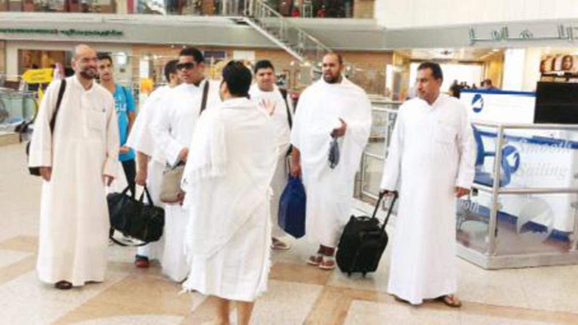 حجاج في مطار الكويت