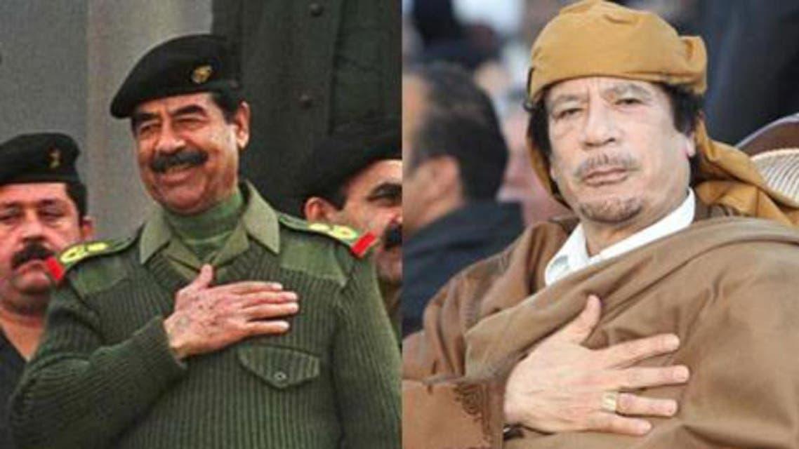 saddam qaddafi