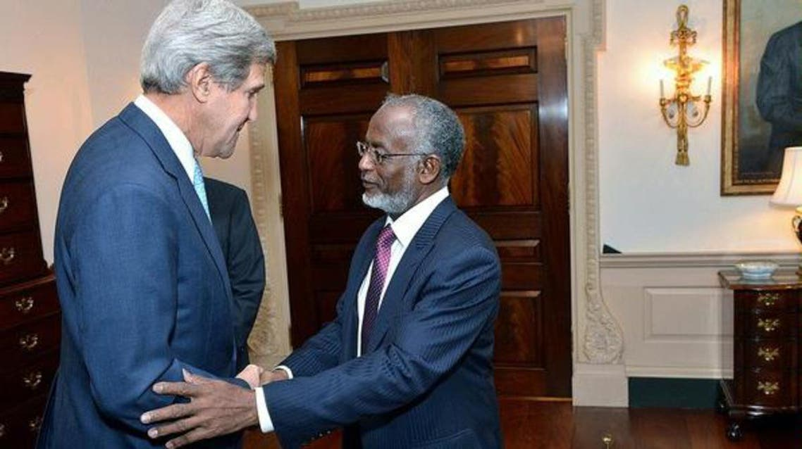 Secretary of State John Kerry meets with Sudanese Foreign Minister Ali Ahmed Karti at the U.S. Department of State in Washington, D.C., on September 30, 2013.  (Reuters)