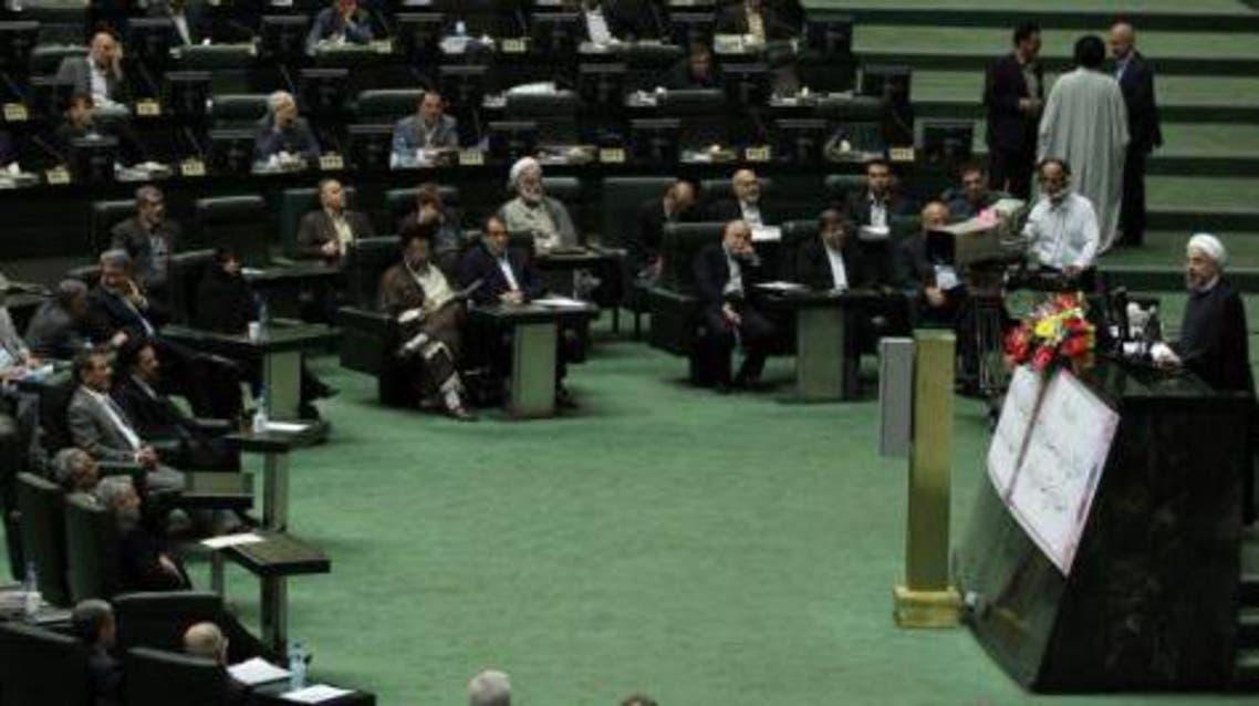 جلسة البرلمان الايراني بحضور الرئيس روحاني