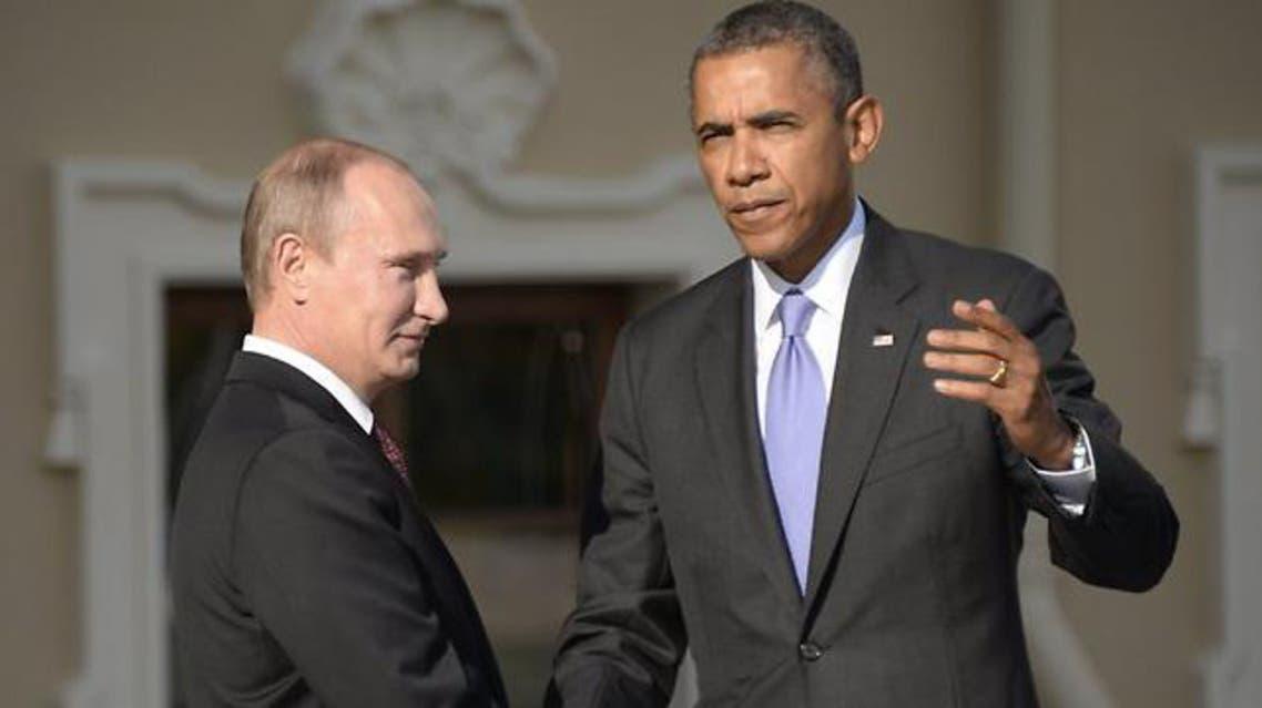 Vladimir Putin welcomes Barack Obama at the start of the G20 summit in Saint Petersburg last month. (AFP)