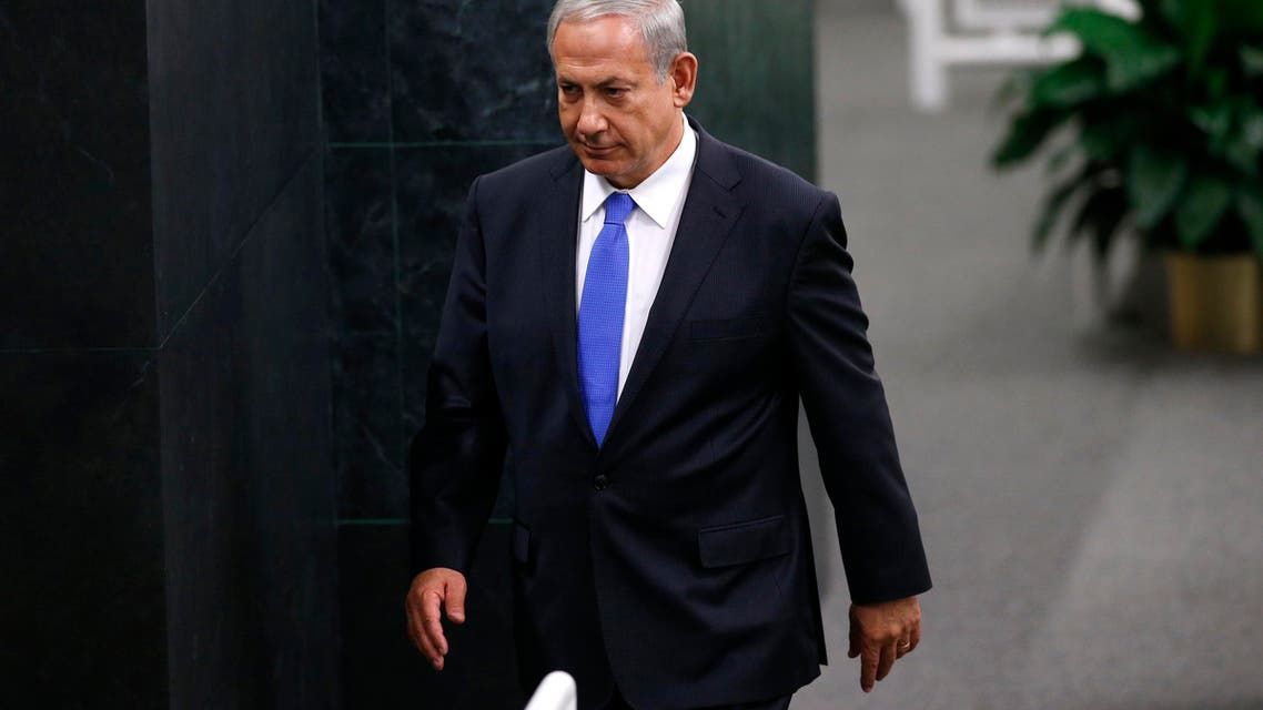 Israel's Prime Minister Benjamin Netanyahu walks from the podium after delivering his address at the U.N. headquarters in New York, October 1, 2013. (Reuters)