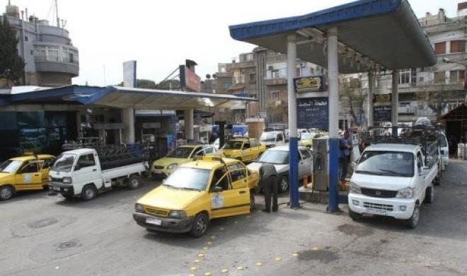 محطة وقود في سوريا