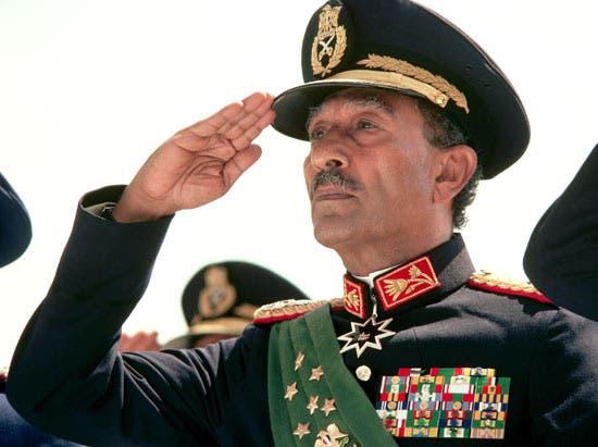الرئيس المصري الراحل أنور السادات