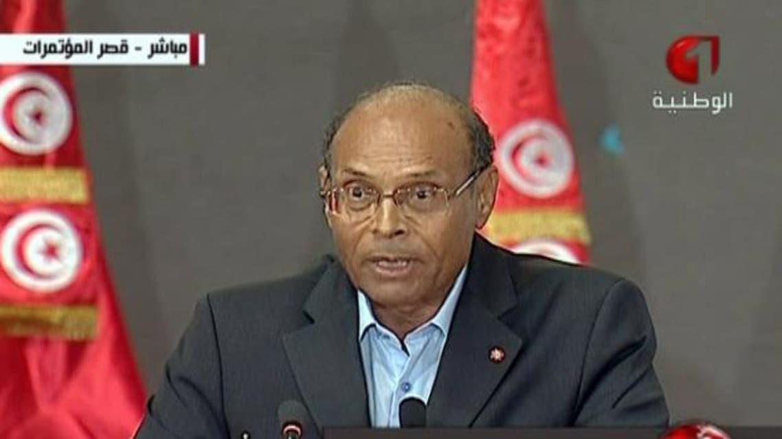 الرئيس التونسي المؤقت المنصف المرزوقي