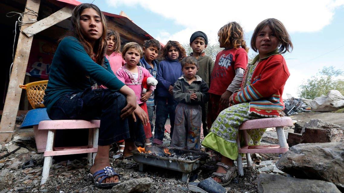 Syria's refugee children pose for the camera