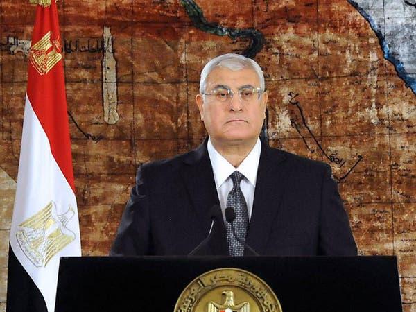 منصور: مصر ستكرر انتصارها الحاسم والناجح على الإرهاب