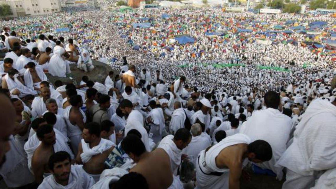 Pilgrims head towards Mount Mercy at the peak of the annual Hajj, on October 25, 2012. (Reuters