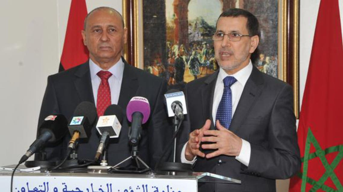 وزيرا خارجية المغرب وليبيا في ندوة صحافية مشتركة في الرباط