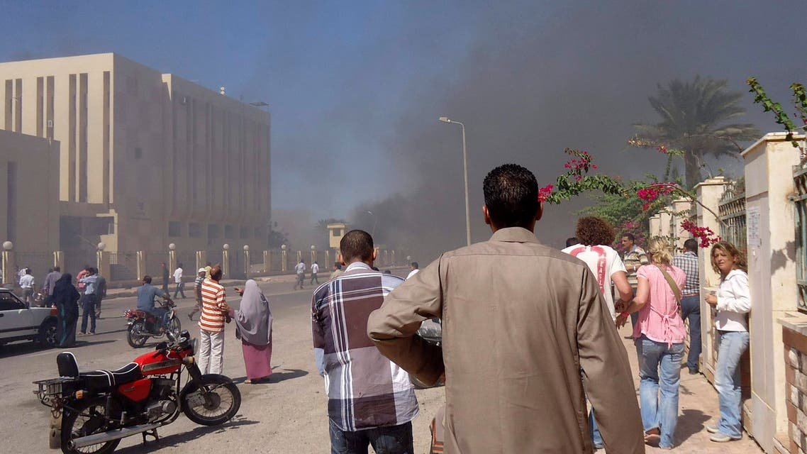 Medical sources said three were killed and 48 injured in the blast near the state security building in South Sinai. (Reuters)