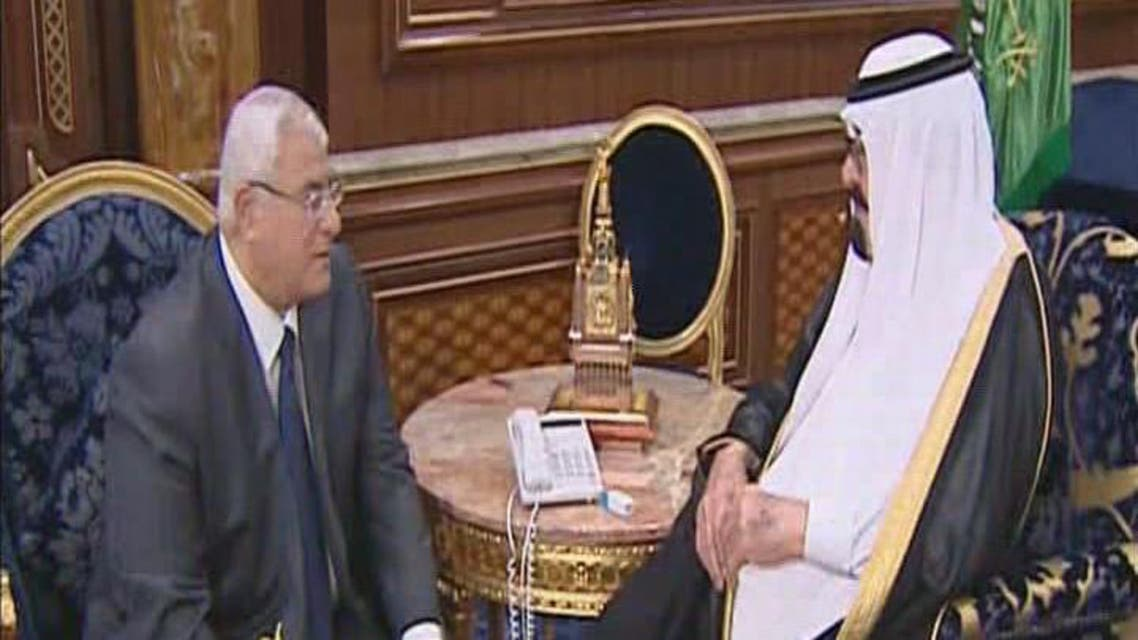 THUMBNAIL_ لقاء العاهل السعودي مع الرئيس المصري عدلي منصور