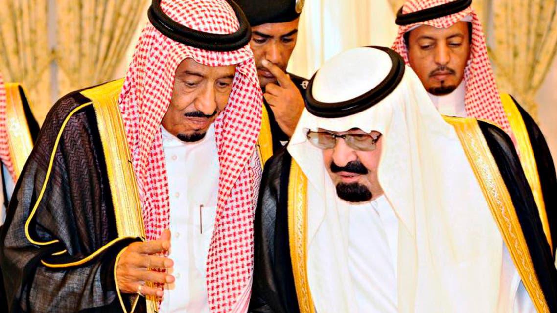 Saudi King Abdullah (R) talks with newly appointed Saudi Crown Prince Salman bin Abdel-Aziz in Taif, June 19, 2012. (Photo courtesy of SPA)