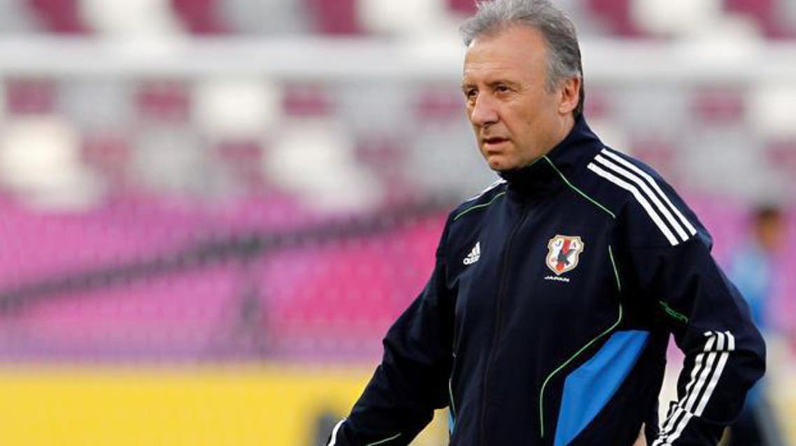 Coach Alberto Zaccheroni led Japan to a record fourth Asian Cup title two years ago in Qatar. (File photo: Reuters)