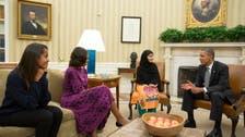 Nobel contender Malala Yousafzai meets Obamas