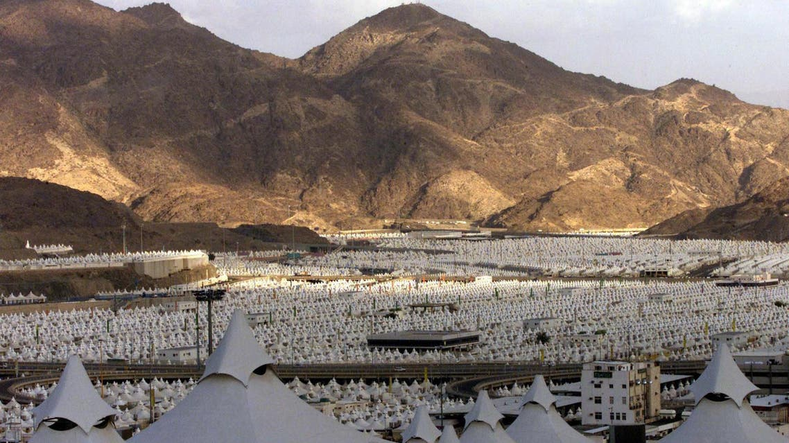 At Mina, air-conditioned tents provide temporary accommodation to the visiting pilgrims.