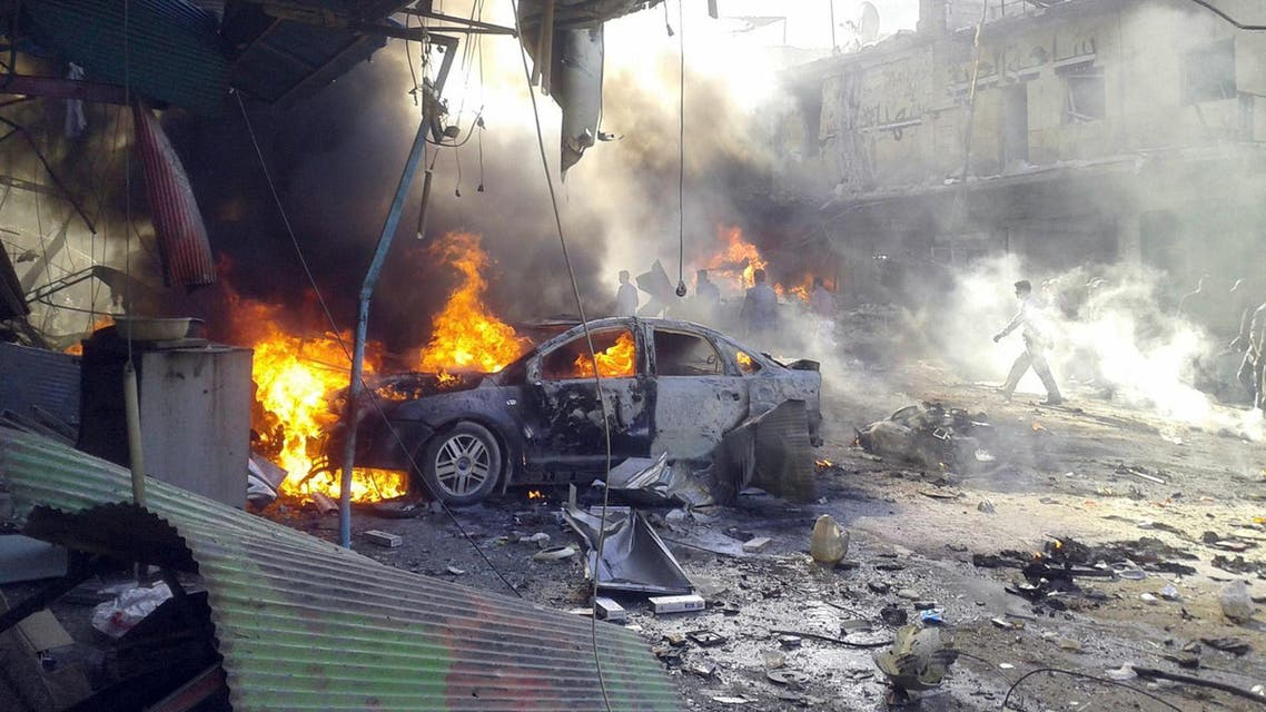 انفجار في إدلب في سوريا