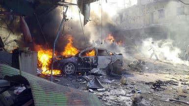 """انفجار ضخم يهز """"سوق السلاح"""" في الميادين بدير الزور"""