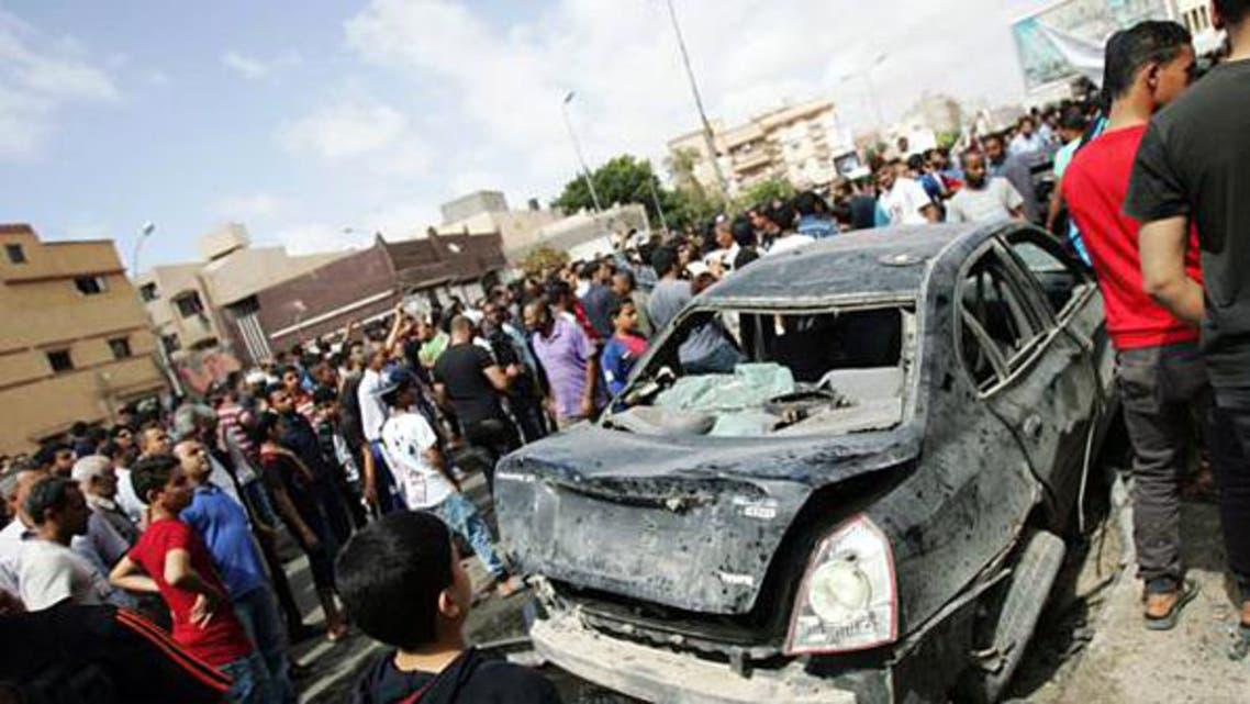 تفجير سيارة في بنغازي