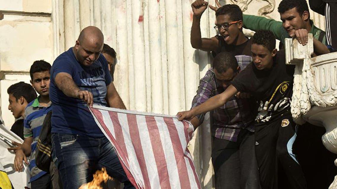 جانب من تظاهرات انصار الرئيس المعزول محمد مرسي في القاهرة
