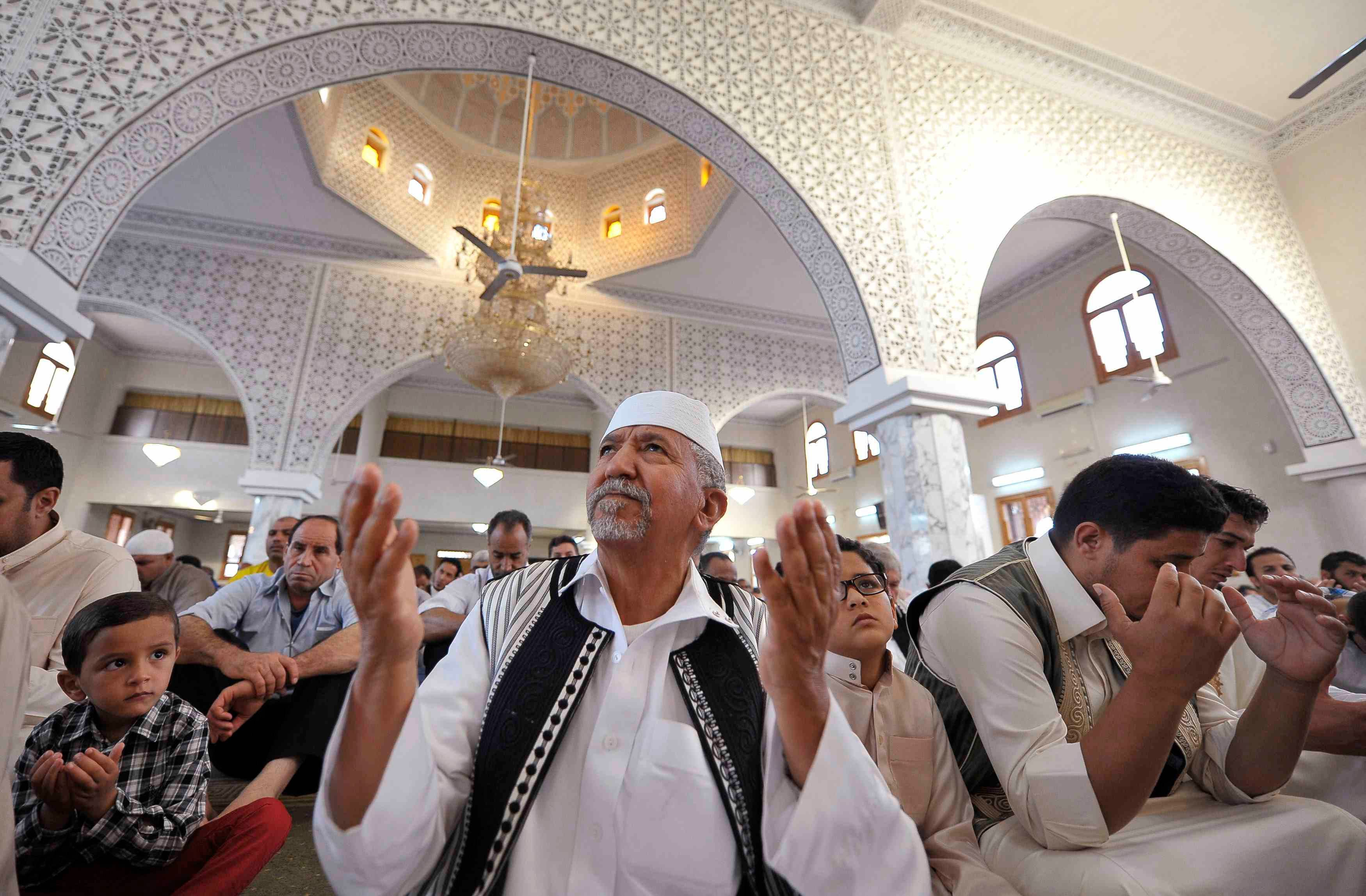 LIBYA: Muslims attend Eid al-Adha prayers in Benghazi October 15, 2013. (Reuters)