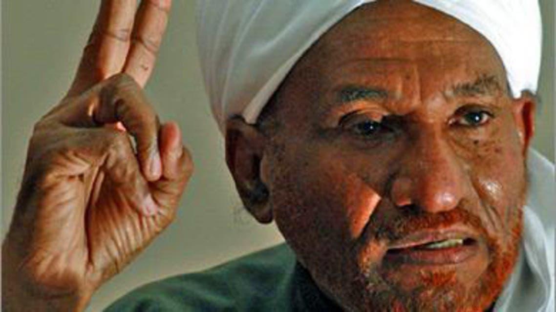 زعيم حزب الأمة القومي السوداني المعارض الصادق المهدي