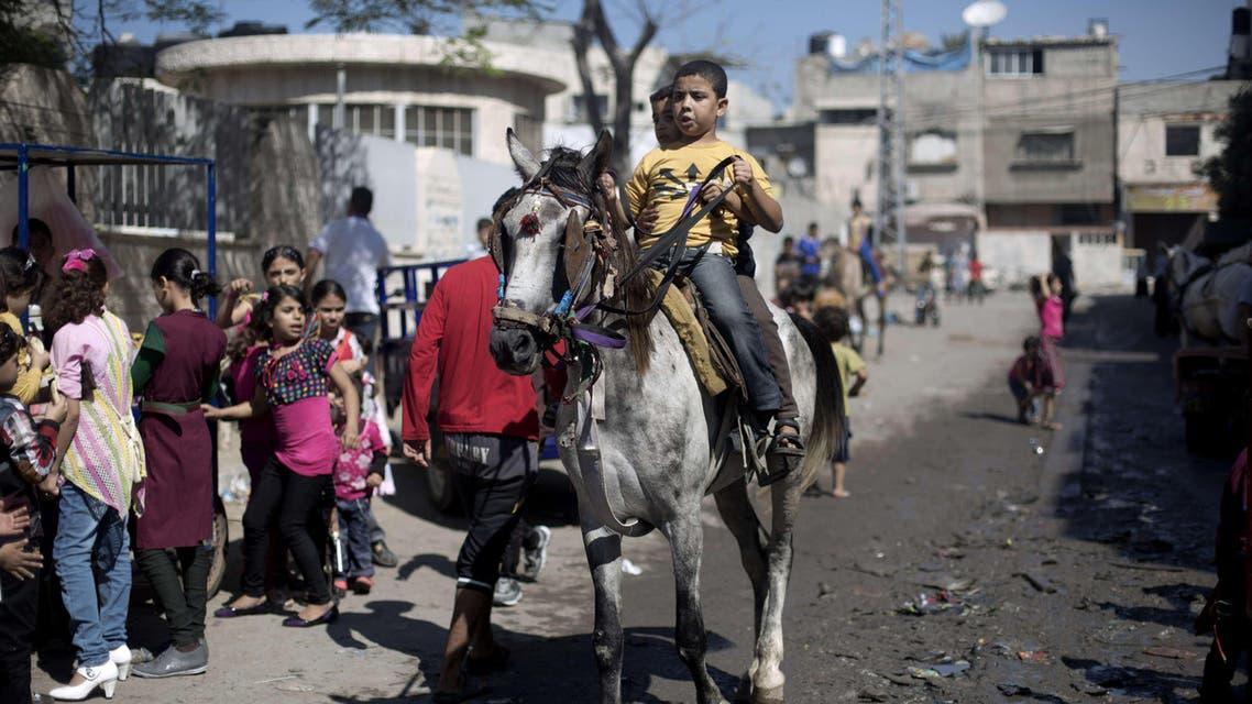 Smiles for Eid al-Adha in Gaza