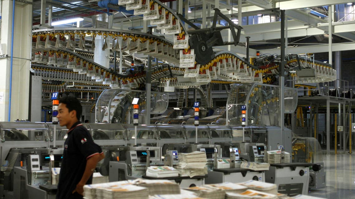 Copies of Gulf News roll off the presses. The newspaper's editor says Gulf states should sell off their media assets. (Photo courtesy: Gulf News)