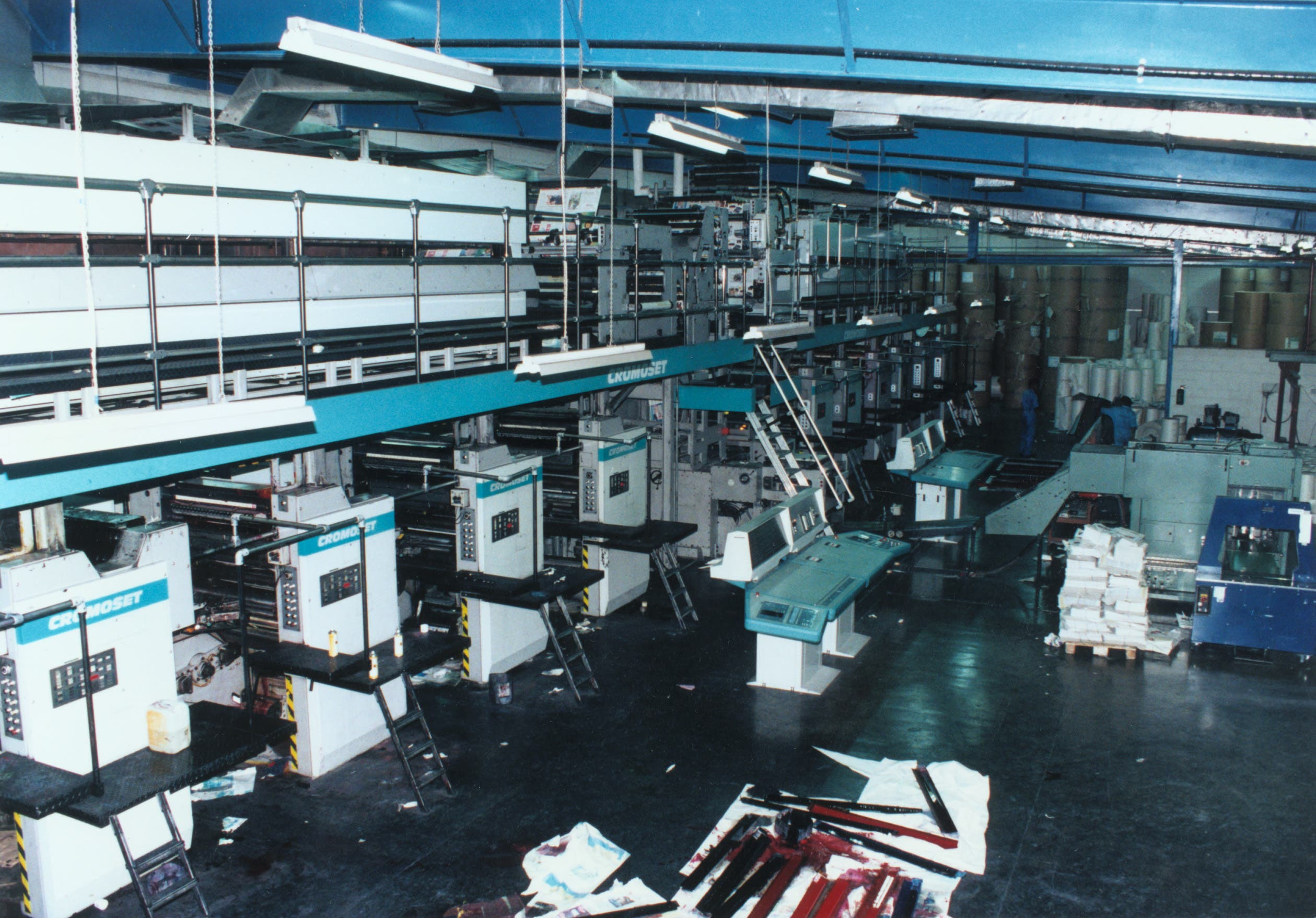 A third press, a Cromoset, was installed in 1993. (Photo courtesy: Gulf News)