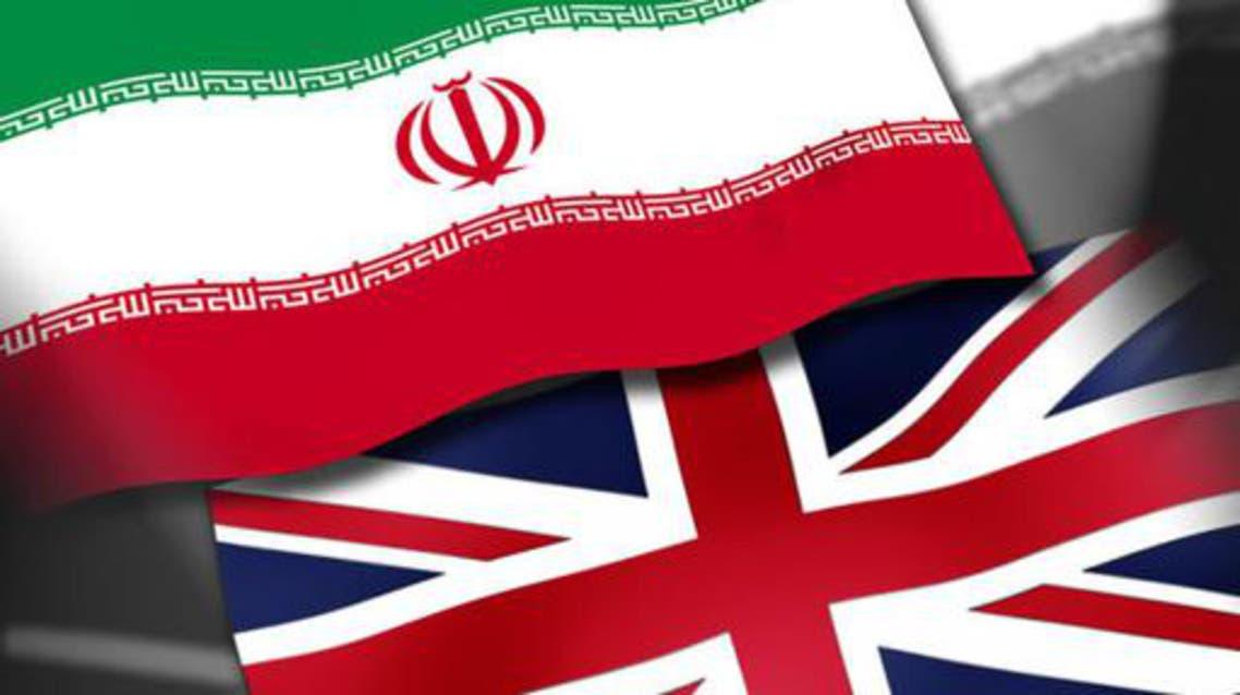 علم إيران وبريطانيا