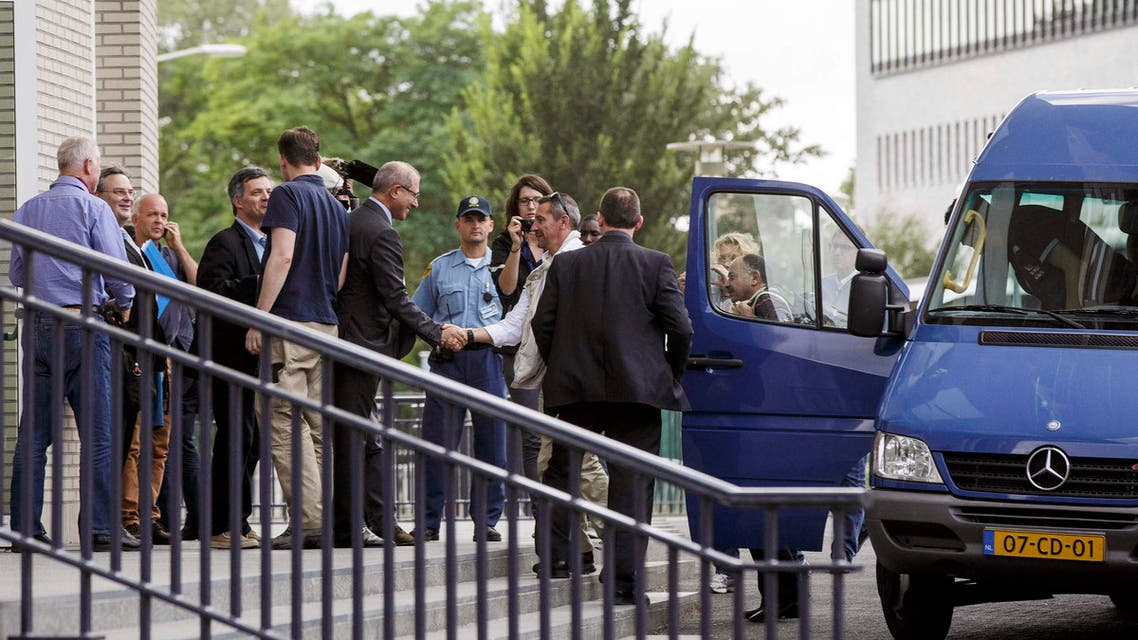 U.N. weapons inspectors who had been gathering evidence and samples relating to alleged chemical weapons use in Syria enter the Organisation for the Prohibition of Chemical Weapons (OPCW) building in The Hague in this August 31, 2013 file photo. (Reuters)