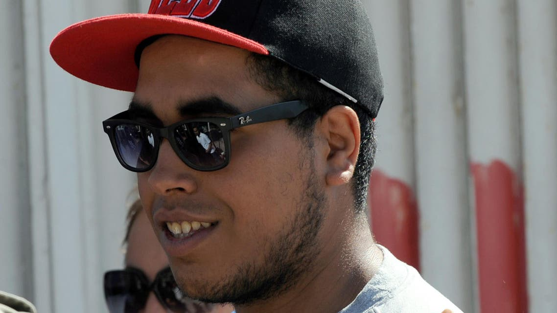 Tunisian rapper Ahmed Ben Ahmed, better known by his stage name Klay BBJ. (AFP)